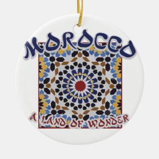 Het Land van Marokko van Wonder Rond Keramisch Ornament