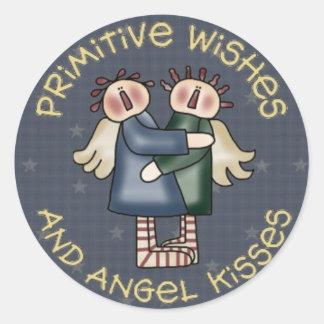 Het Land van Primive om de Stickers van de Engel