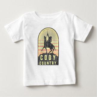 Het Land Wyoming van Cody Baby T Shirts