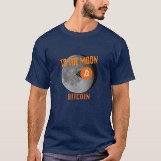 Het Landen van de Maan van Bitcoin de Marine/Dark T Shirt