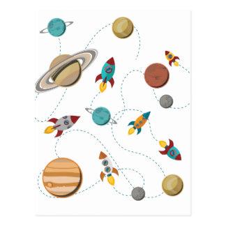 Het Landen van de Raket van Wellcoda de Briefkaart