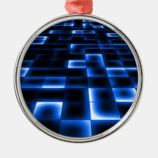 Het Landende Stootkussen van het UFO van het Sci Zilverkleurig Rond Ornament