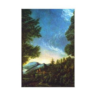 Het landschap Regensburg van Albrecht Altdorfer Canvas Afdruk