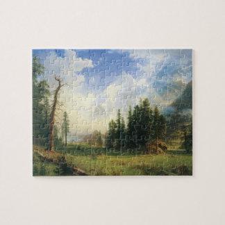 Het Landschap van de berg door Albert Bierstadt Puzzel