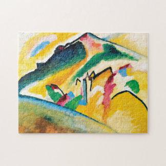 Het Landschap van de herfst door Wassily Kandinsky Puzzel