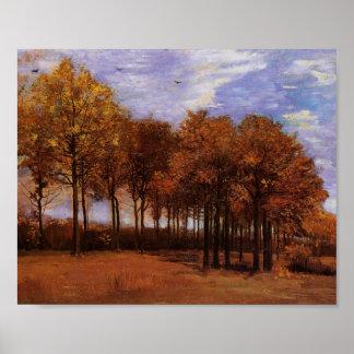 Het Landschap van de herfst, Van Gogh Fine Art. Poster