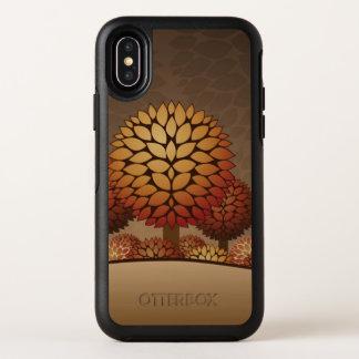 Het Landschap van de Nacht van de herfst OtterBox Symmetry iPhone X Hoesje