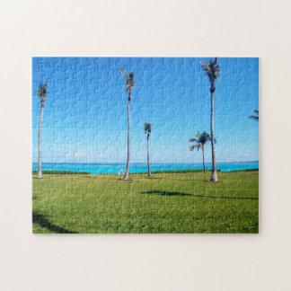 Het Landschap van de oceaan en van de Palm Puzzels