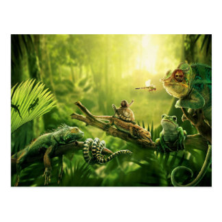 Het Landschap van de Reptielen van het Oerwoud van Briefkaart