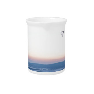 Het landschap van de winter in Duitsland in de Drink Pitcher