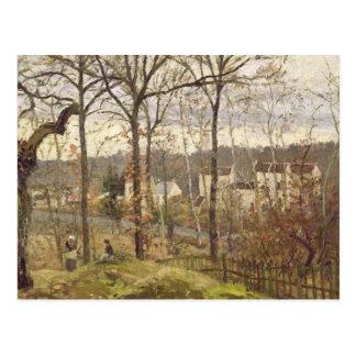 Het Landschap van de winter in Louveciennes, Briefkaart