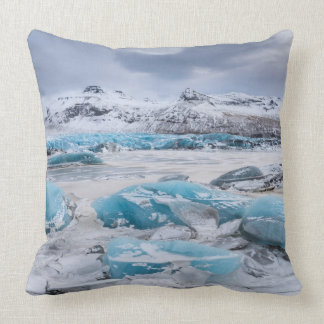Het landschap van het Ijs van de gletsjer, IJsland Kussen