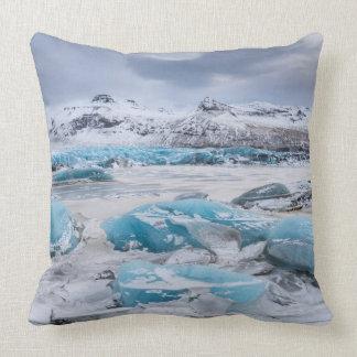 Het landschap van het Ijs van de gletsjer, IJsland Sierkussen