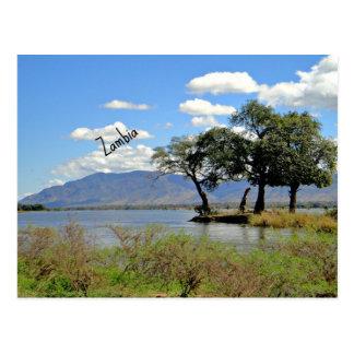 Het landschap van Zambia Briefkaart