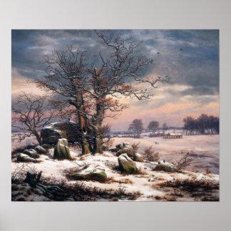 Het Landschap Vordingborg van de Winter van Johan Poster