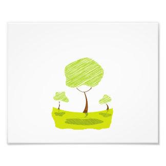 het landschaps gele eco design.png van de gekrabbe foto kunst
