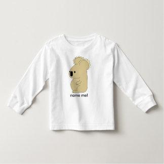 het lang-sleeved t-shirt van de peuterkoala