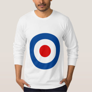 Het lang-Sleeved T-shirt van Mod. Roundel van het