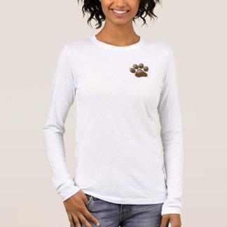 Het lang-sleevepoot & logo t van dames t shirts