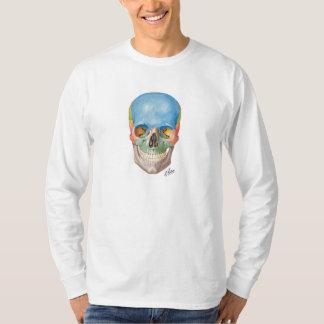 Het lang-sleevet-shirt van de Schedel van Netter T Shirt