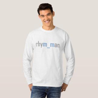 Het Lange (blauwe) Sleeve van Rhym_man T Shirt