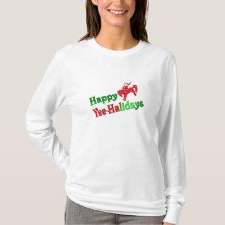 Het lange Gelukkige t-shirt yee-Halidays van het