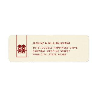 Het lange Rode Dubbele Moderne Chinese Huwelijk Etiket