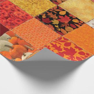Het Lapwerk van de herfst Inpakpapier