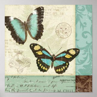 Het Lapwerk van de vlinder Poster