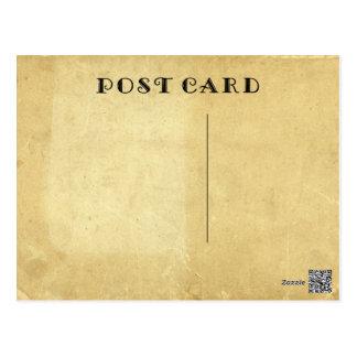 Het lege Rustieke Antiek Oude Bevlekte Document Briefkaart