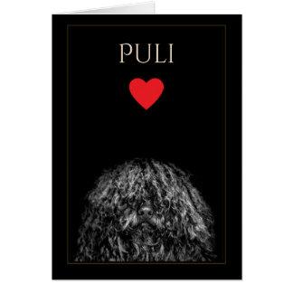 Het Lege Wenskaart van de Liefde van Puli