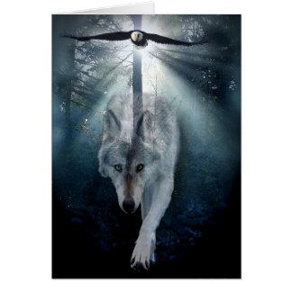 Het Lege Wenskaart van de Steun van de wolf & van