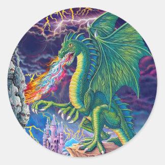 Het Leger van de draak Ronde Sticker