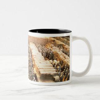 Het Leger van het terracotta, Qin Dynastie, 210 Tweekleurige Koffiemok