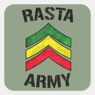 Het leger van Rasta Vierkante Sticker