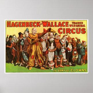 Het Leger van Wallace van Hagenbeck van het Poster
