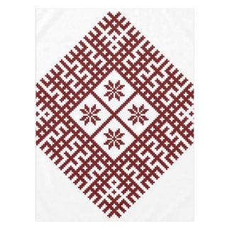 Het Letse ontwerp Auseklis van het symboolmotief Tafelkleed
