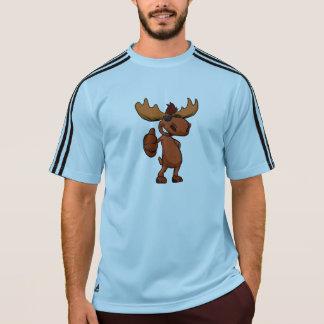 Het leuke Amerikaanse elandencartoon golven T Shirt