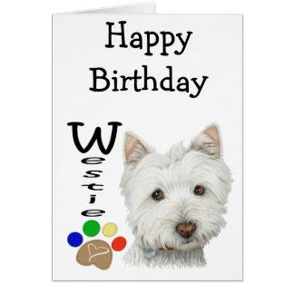 Het leuke Art. van de Hond Westie en van de Poot Briefkaarten 0
