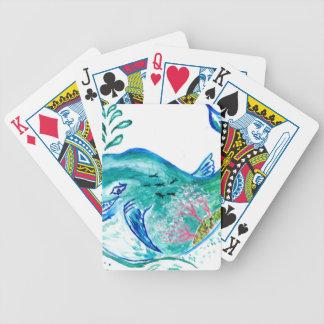 Het leuke Art. van de Walvis Bicycle Speelkaarten