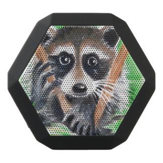 Het leuke Art. van de Waterverf van de Wasbeer Zwarte Bluetooth Speaker