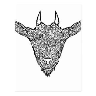 Het leuke Art. van het Tattoo van het Gezicht van Briefkaart