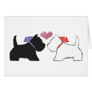 Het leuke Art. van Honden Westie Kaart