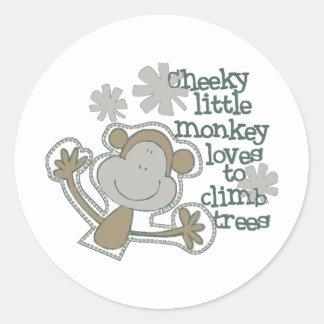 Het leuke Baby van de Aap Ronde Stickers