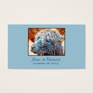 Het leuke Baby van de Alpaca in Blauw Visitekaartjes