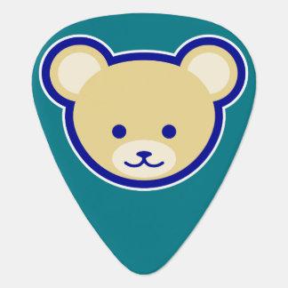 Het leuke beige van de Cartoon van de Teddybeer op Gitaar Plectrums 0