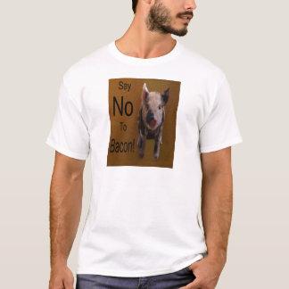 """Het leuke Biggetje """"zegt Nr aan Bacon """" T Shirt"""