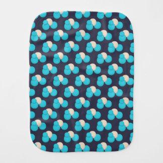 Het LEUKE Blauwe en Witte Patroon van de Punt Baby Monddoekje
