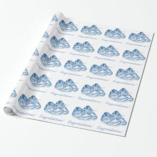 Het leuke Blauwe Verpakkende Document van de Inpakpapier
