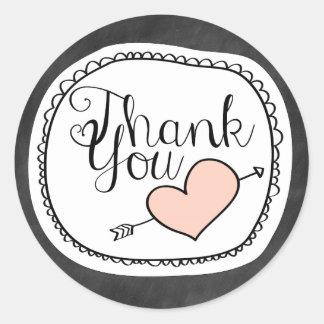 Het leuke Bord dankt u Sticker
